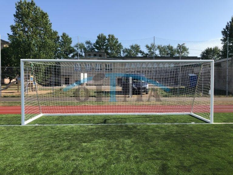 Jalgpallivärav 7,32×2,44m Vabaltseisvad alumiinium