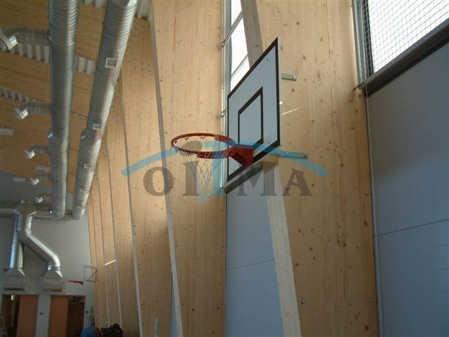 Seinale kinnitatav korvpallikonstruktsioon