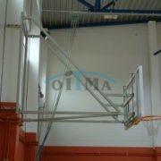 Seinale kinnitatav jäik korvpallikonstruktsioon