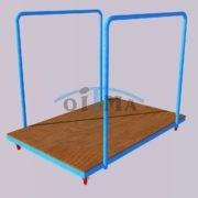 Transportation cart for high jump landing area